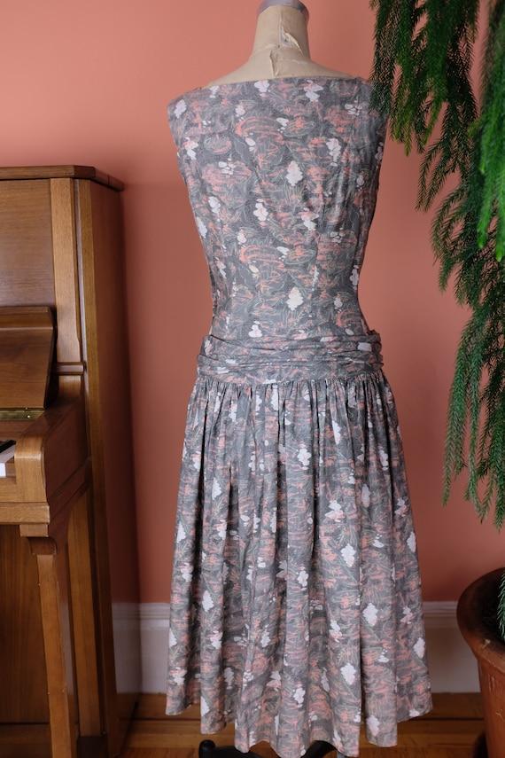1940s Cotton Print Dress - image 3