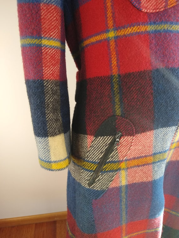 Early 1970s Daniel Hechter Paris Red Plaid Wool M… - image 4