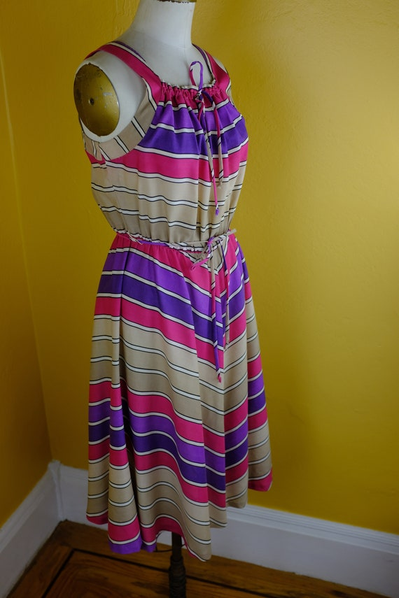 1970s/80s Chevron Striped Sundress