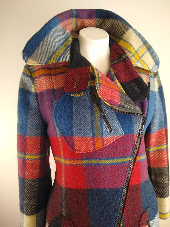 Early 1970s Daniel Hechter Paris Red Plaid Wool M… - image 2