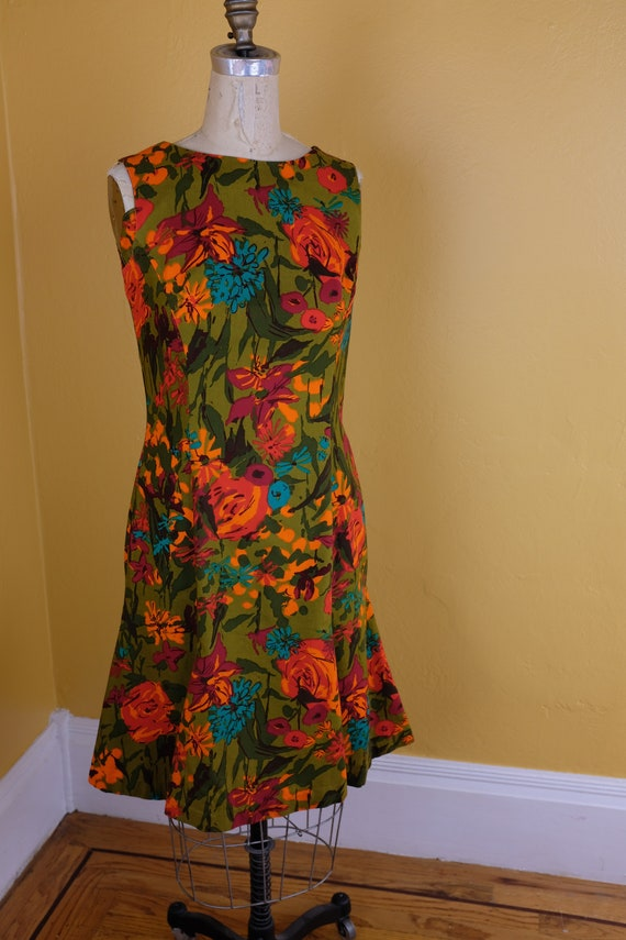 1960s/70s Floral Cotton Dress