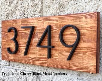 House Number Plaque, Number Sign, Wood Address Numbers, Address Sign, Beach Cottage Sign, House Number Plaque, Outside House Number Plaque