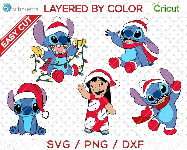 Stitch svg stitch santa svg Stitch Christmas Lilo svg Lilo stitch clipart lilo stitch cricut stitch printable christmas svg