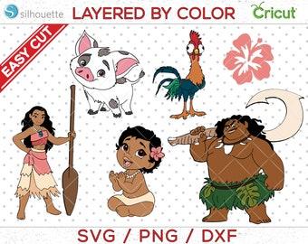 Moana SVG, Moana Cut File, Moana Cricut file, Pig svg, Demigod svg, Maui svg, Princess Cut File, Princess svg, Tumbler svg, Tshirt svg,MNG02