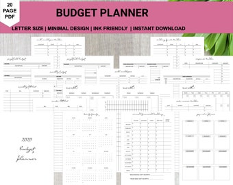 Monthly Budget Planner Printable PDF | Budget Binder |Printable Financial Planner Inserts
