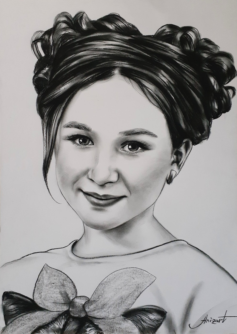 Pencil painting Personalized gift Comission art Gift Custom painting Custom portrait from photo Custom portrait Personalized portrait