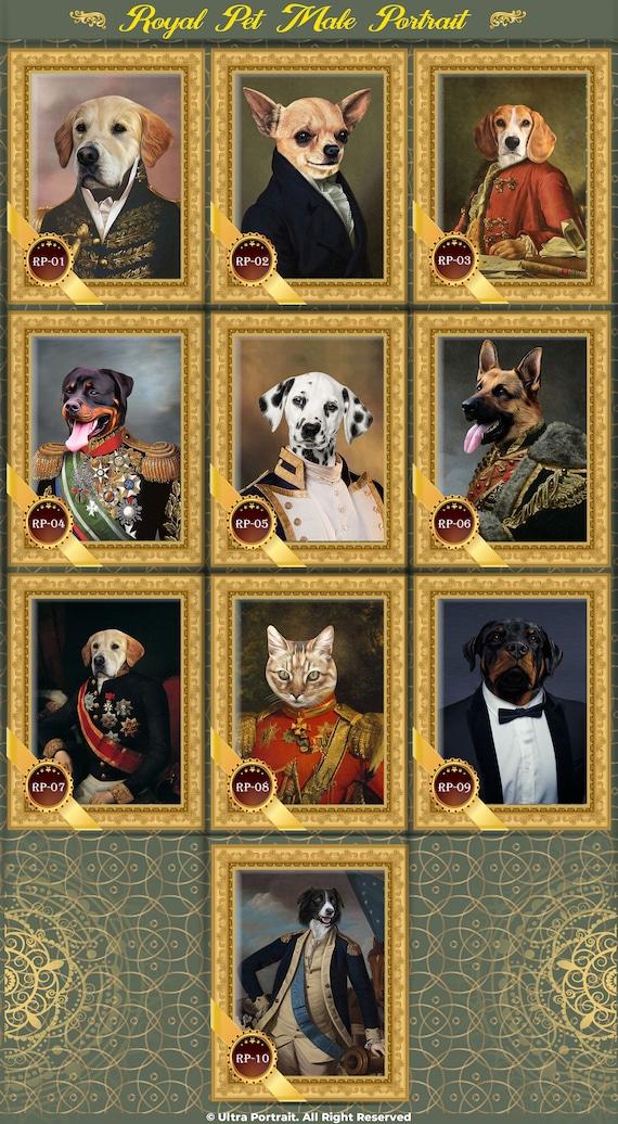 Personalized Pet Portrait The Lance Gift Ideas Renaissance Portraits Custom HistoricalRoyal Pet Portrait