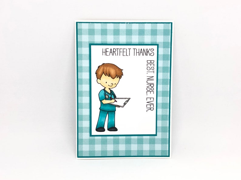 thank you healthcare workers handmade thank you card Thank you nurse card