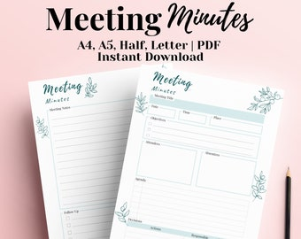 Meeting Minutes Template Pages from i.etsystatic.com