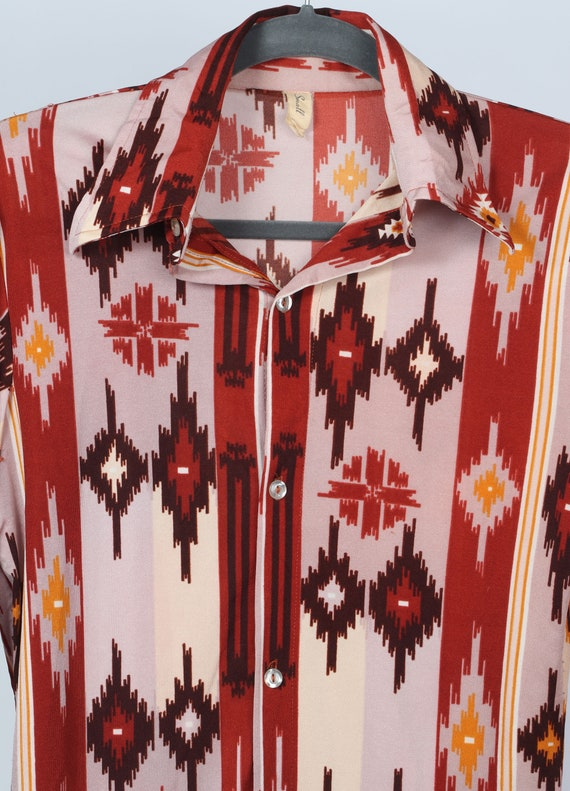 1970's XS aztec Western body shirt - image 3