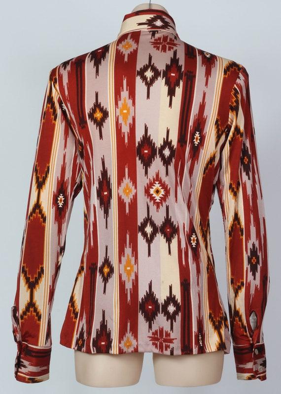 1970's XS aztec Western body shirt - image 2