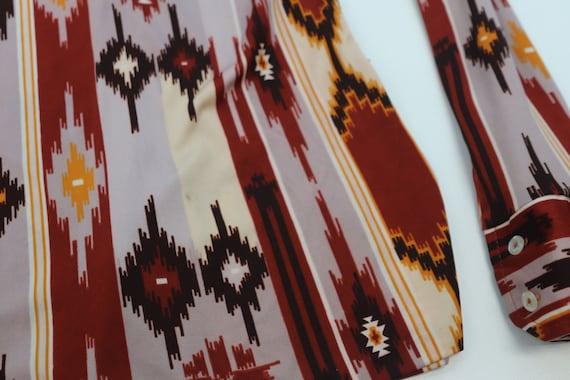 1970's XS aztec Western body shirt - image 4