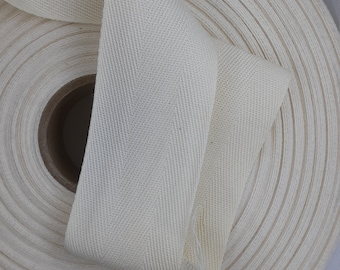 Light Weight - USA Made 1//2 White Cotton Twill Tape Multiple Widths /& Yardages Available 72 Yards