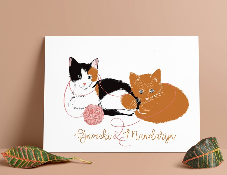 your pet illustrated custom portrait special gift your pet Custom pet portrait personalized gift special gift memory unique present