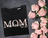 Mama Bügelbild mit Kindernamen personalisiert