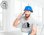 Bauherr Bügelbild personalisiert