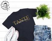 Tante T-Shirt mit Kindernamen personalisiert