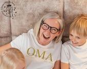 Oma T-Shirt mit Kindernamen personalisiert