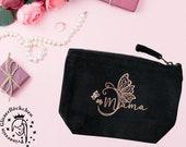 Kosmetiktäschchen mit Schmetterling und Mama Schriftzug