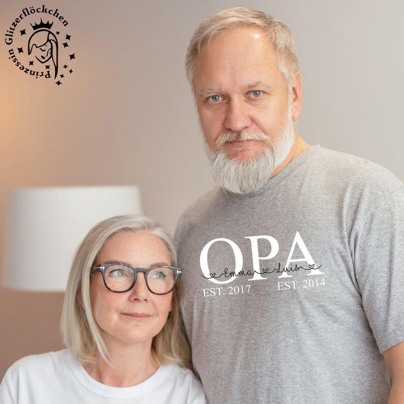 Opa Bügelbild mit Kindernamen personalisiert image 0