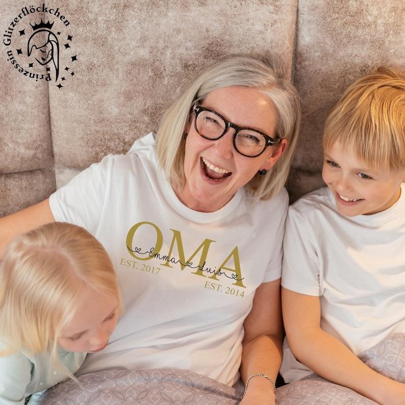 Oma Bügelbild mit Kindernamen personalisiert image 0