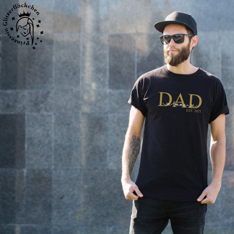 Papa Bügelbild mit Kindernamen personalisiert image 0