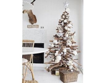 Driftwood christmas tree 2021-2022 Eco christmas tree Wooden christmas tree Scandinavian christmas tree Christmas decor Christmas presents