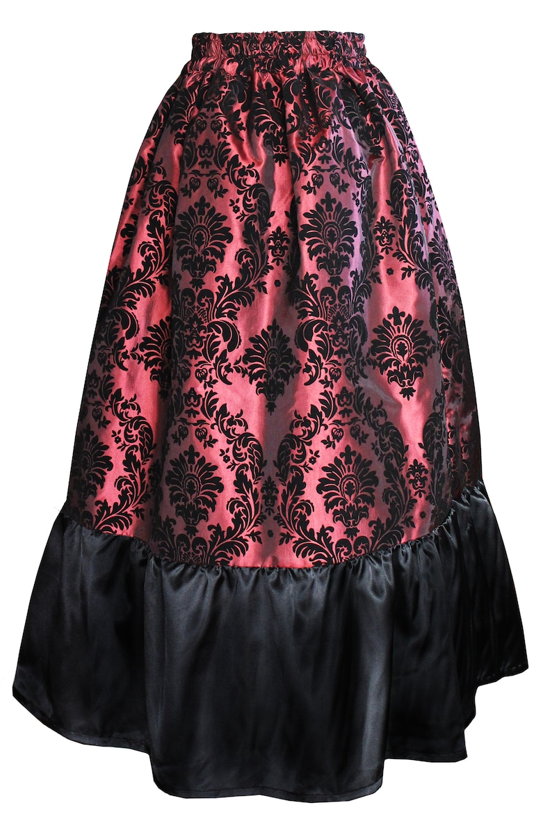 Steampunk Skirts | Bustle Skirts, Lace Skirts, Ruffle Skirts Steampunk Theater Victorian Gothic Renaissance Theater Stagewear Medieval Historical Costume Civil War Queen Ruffled Adjustable Bustle Skirt $69.00 AT vintagedancer.com