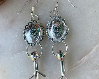 Southwest Inspired Squash Blossom Earrings