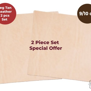 1-1.4mm 2 Piece Special Price Veg Tan Tooling Leather 2//3 oz