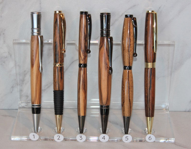 exotic wood Custom wooden pens gift for her Free Gift Box with each Bethlehem Olive wood handmade graduation Christmas gift for him
