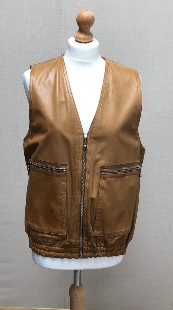 Vintage Leather Waistcoat