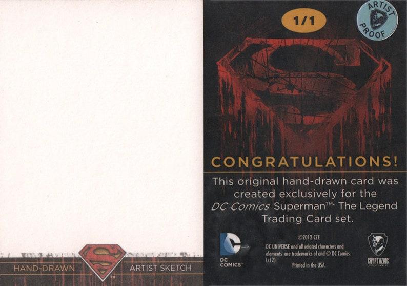 Blank Superman Licensed Sketch Card Cryptozoic Ent.