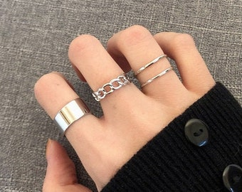 Textured Jewelry US Size 10.25 Ring Silver Ring Stacking Ring Texture Ring Silver Ring Mens Ring thumb Ring Stackable Ring