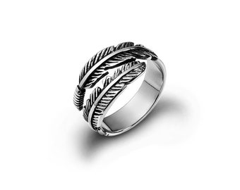 Delicate Ring One of a Kind 925 Sterling Silver Ring Feather Jewelry Feather Ring Silver Open Ring Unique Jewelry Adjustable Ring