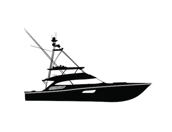 Download Boat Svg Png Jpeg Sport Fishing Yacht Ocean Deep Sea Offshore Etsy