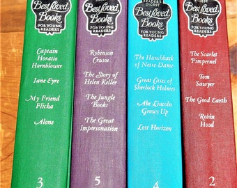 1966 1st Edition Reader's Digest Best Loved Books For Young Readers- Volumes 2345