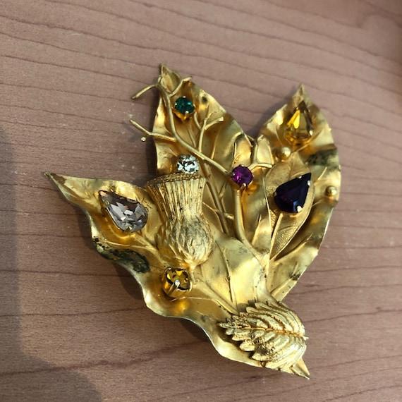 Vintage 1980's Dominique Aurientis Leaf Pin