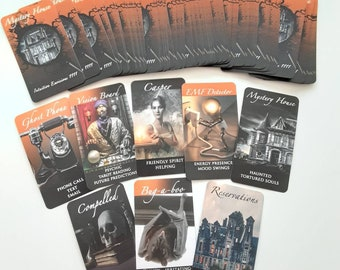 MYSTERY HOUSE Oracle Deck Twin Flames Soulmates Connections Tarot Readings HALLOWEEN Shadows Karmic