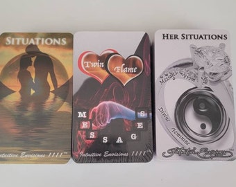 SITUATIONS Oracle Deck BUNDLE Of 3 Decks HER Situations Divine Feminine Intuitive Envisions 1111 Twin Flames Messages Soulmates Tarot Karmic