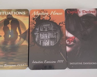 SITUATIONS Oracle Deck BUNDLE Of 3 Decks - Mystery House Cupid's Desires -Twin Flames Soulmates Karmic Connections Tarot Readings