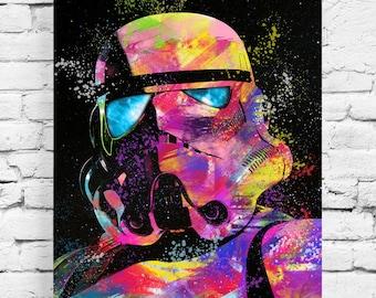 Table Stormtrooper Darth Vador Pop art street art art