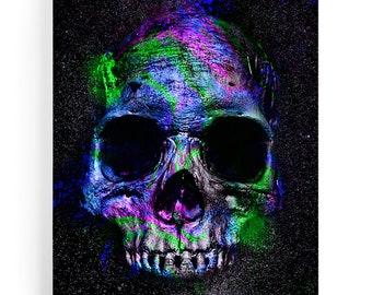 Table death head pop art