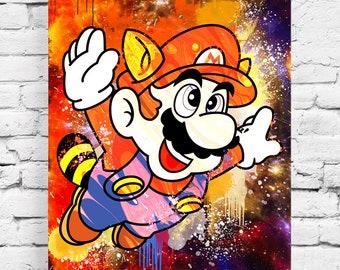Mario Street art table - pop art