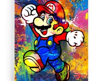 Mario Street art painting