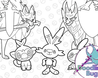 Pokemon Colouring Etsy
