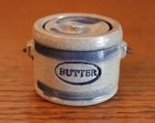 RARE Rowe Pottery Works Miniature Salt-Glaze Stoneware Butter Jar