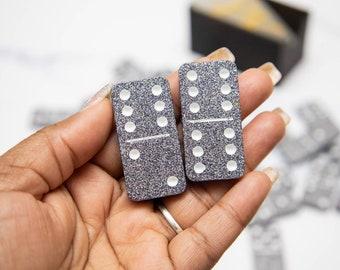 Glitter dominoes set - gift for mom - custom dominos - family game night