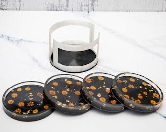 Flower Resin Coasters, Gift for mom, housewarming gift, home decor, resin coaster set