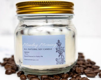 Soy wax candles, coffee scented candle, gift for mom, coffee lovers gifts